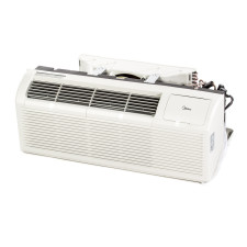 PTAC Unit - 15k Midea EMB63 Series 265v Air Conditioner with 3.5 kW Electric Heat