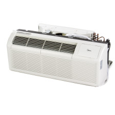 PTAC Unit - 15k Midea HMB63 Series 265v Air Conditioner with Heat Pump and 3.5 kW Resistive Electric Heat