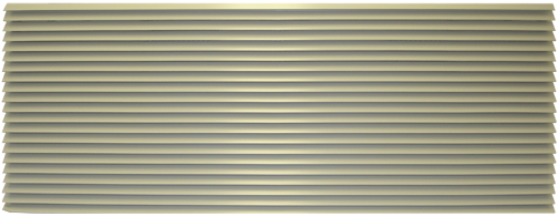 "Amana AGK01TB Exterior Louvered Aluminum Grille-Stonewood-42"""