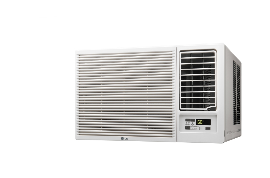 Lg lw1216hr window air conditioner 12000 btu 230 208v heat for 12000 btu ac heater window unit