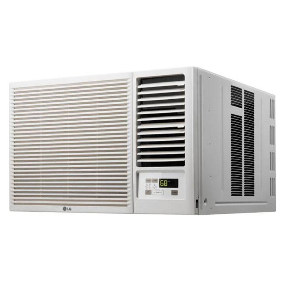 Lg lw1216hr window air conditioner 12000 btu 230 208v heat for 12k btu window air conditioner